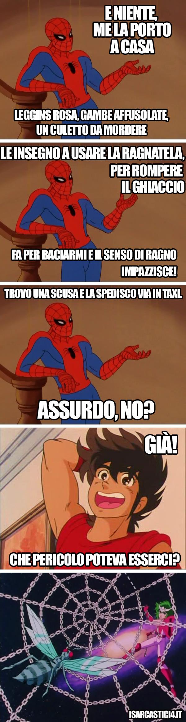 Cavalieri dello zodiaco & 60s Spider-Man meme ita - Lieto fine