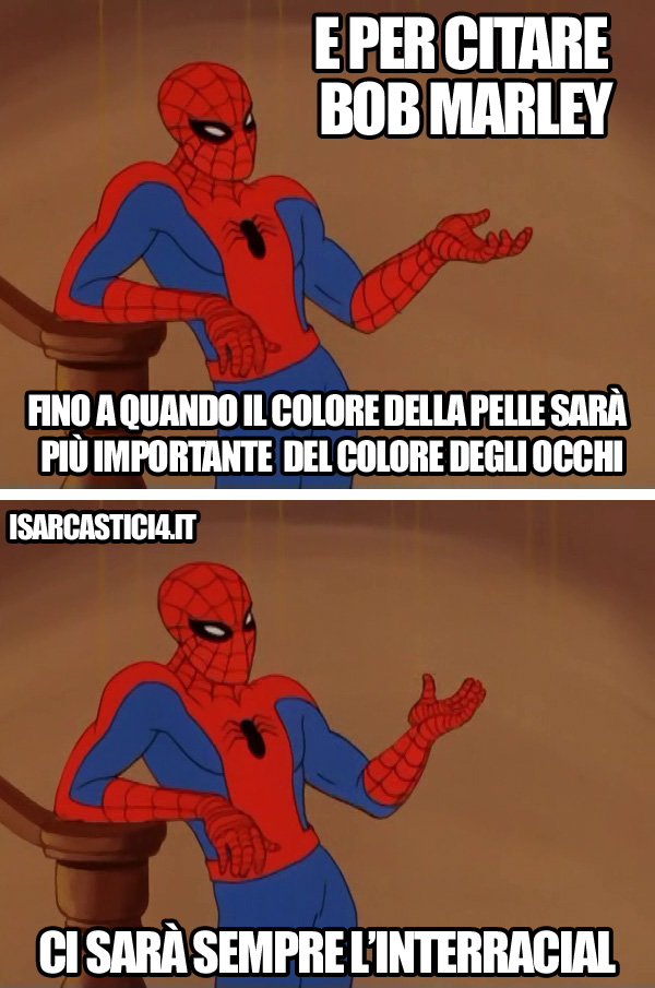 60s Spider-Man meme ita - Bob Marley