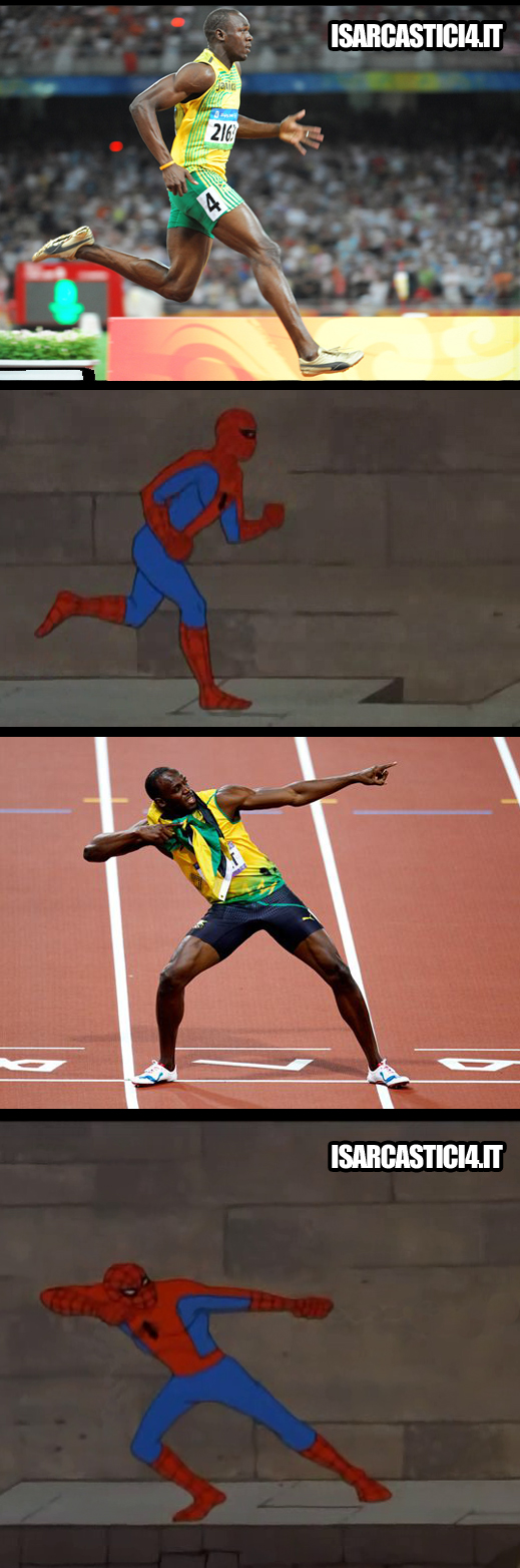 60s Spider-Man meme ita - Usain Bolt, learn from the best