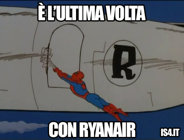 60s Spider-Man meme - low cost ryanair