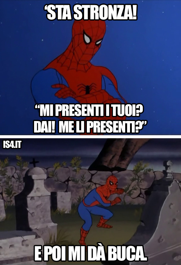 60s Spider-Man meme ita - Disappunto