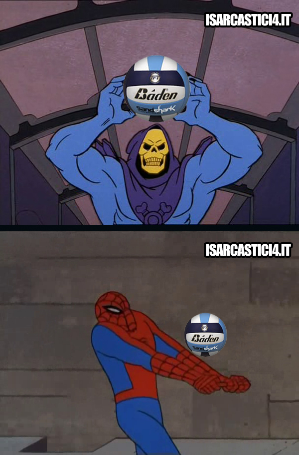 60s Spider-Man & Skeletor meme ita - Beach volley