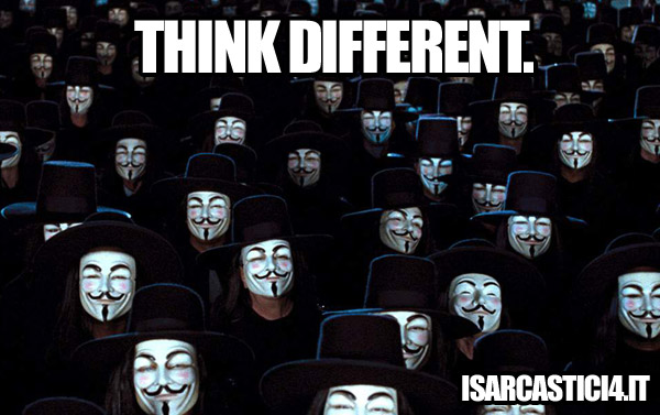 V for Vendetta meme - Think different
