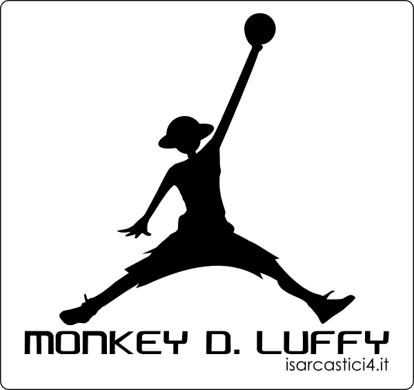Air Jordan - variante One Piece con Rubber (Rufy) / Monkey D. Luffy