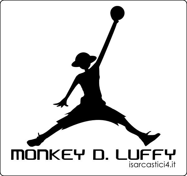 Air Jordan - variante One Piece con Rubber (Rufy) / Monkey D. Luffy