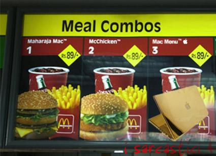 Big Mac menu
