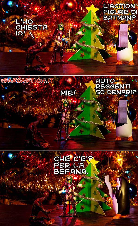 Cavalieri dello Zodiaco/Spider-Man/Pinguini di Madagascar meme ita - Merry Xmas