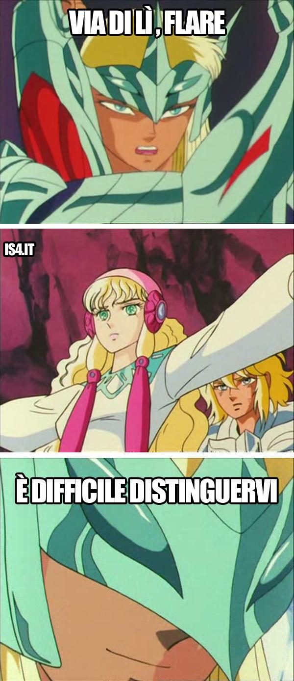 Cavalieri dello zodiaco meme ita, Asgard - Artax, Crystal il Cigno e Flare