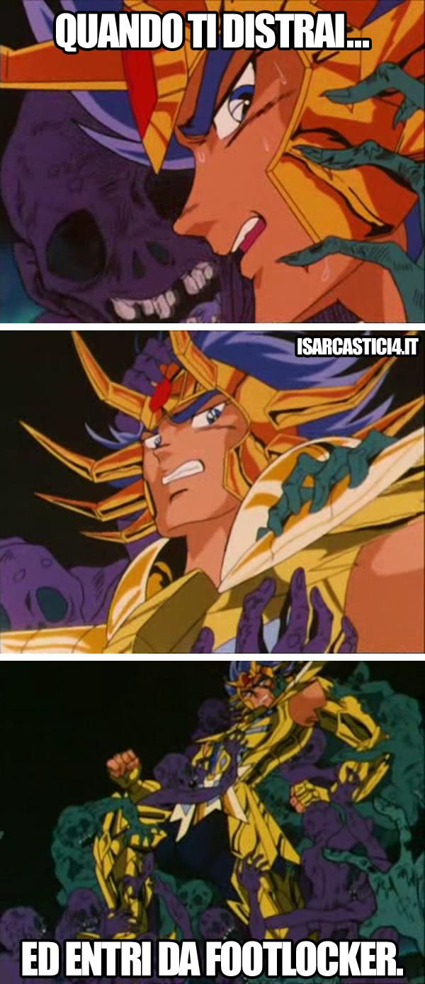 Cavalieri dello zodiaco meme ita - Distrazione fatale