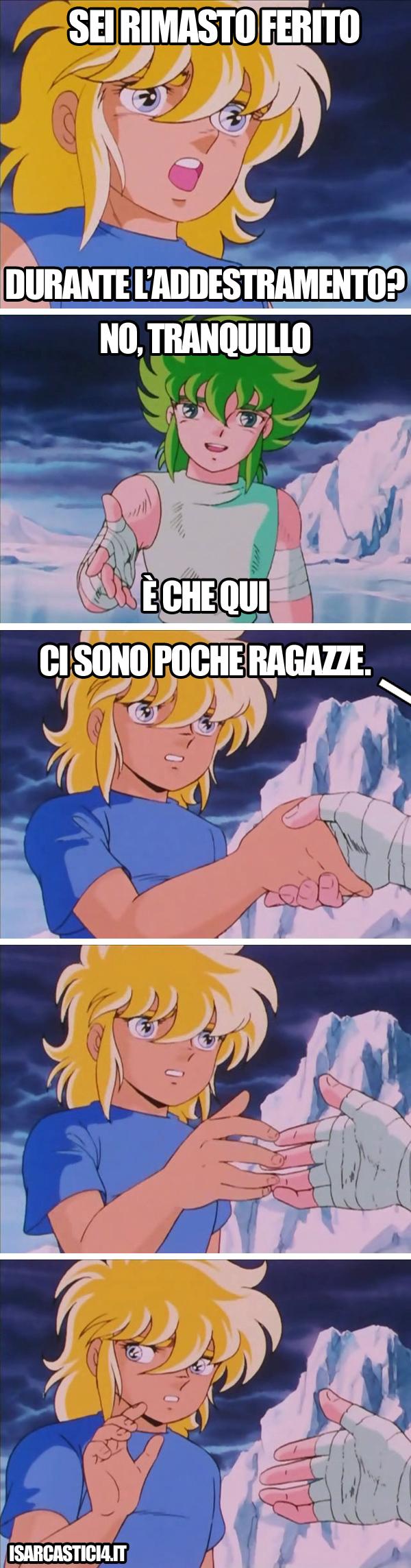 Cavalieri dello zodiaco meme ita - Tranquillo!