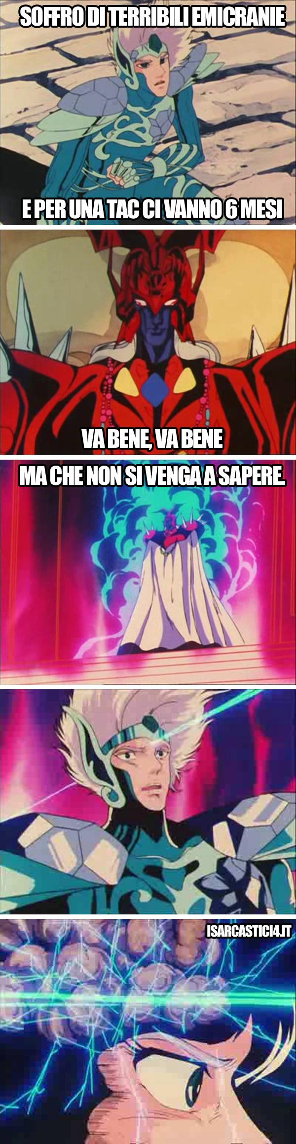 Cavalieri dello zodiaco meme ita - Emicranie