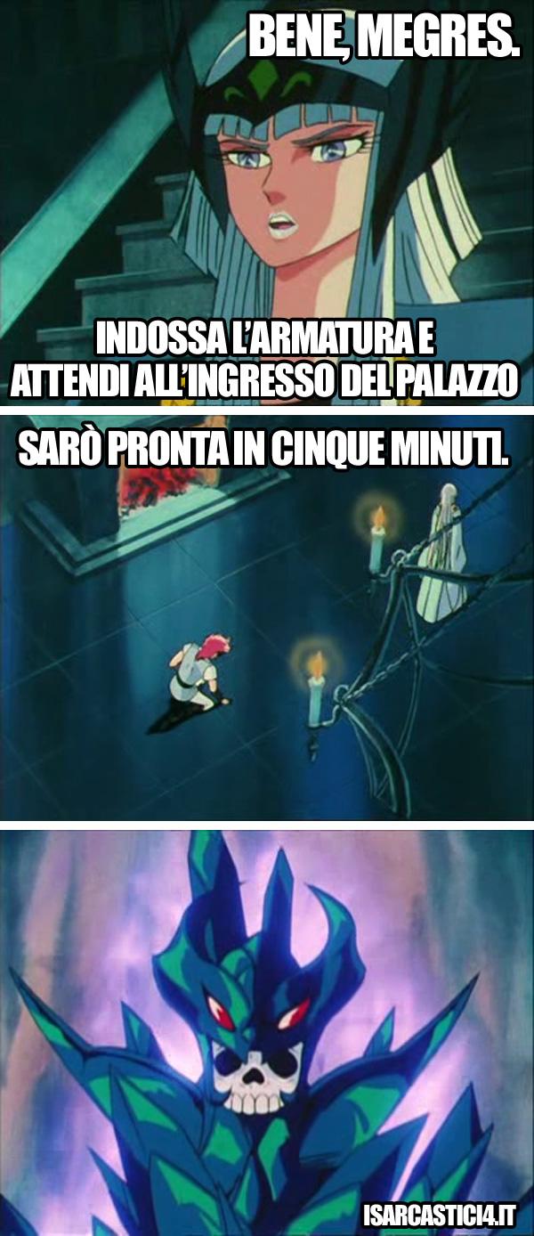 Cavalieri dello zodiaco meme ita - Cinque