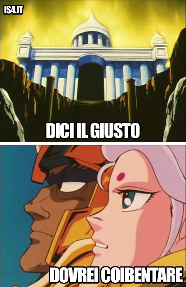 Cavalieri dello Zodiaco meme ita - Mur dell'Ariete & Toro: sante parole
