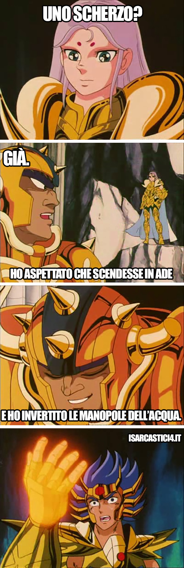 Cavalieri dello zodiaco meme ita - Scherzo