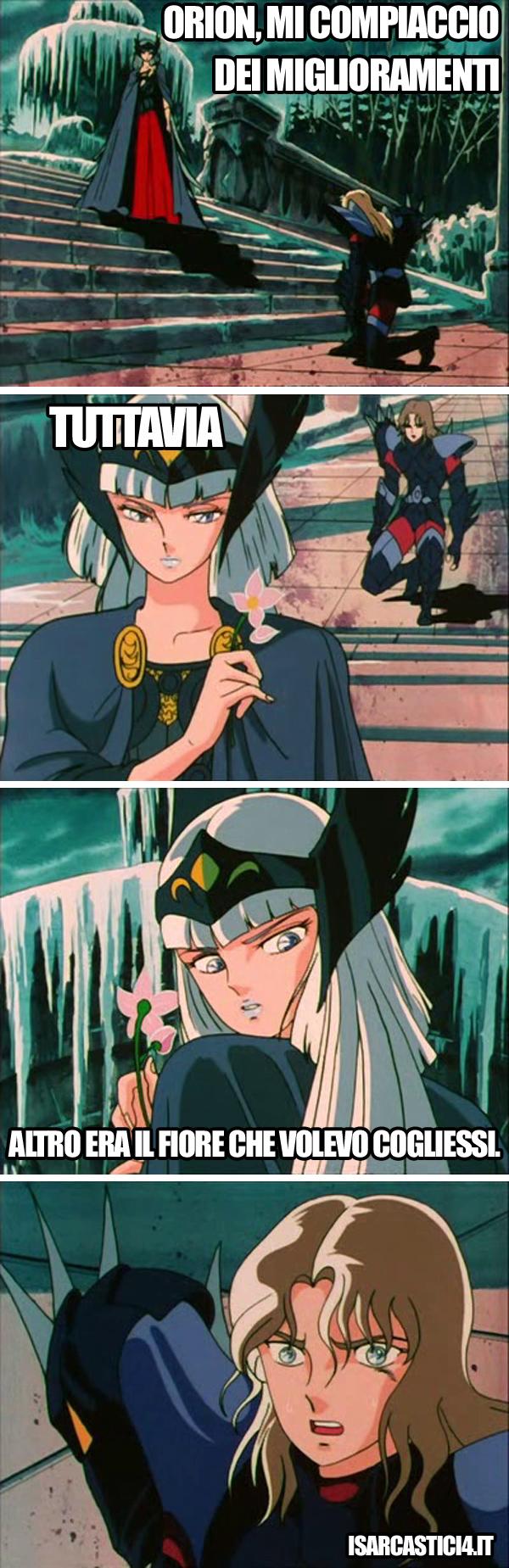 Cavalieri dello zodiaco meme ita - Orion e Hilda