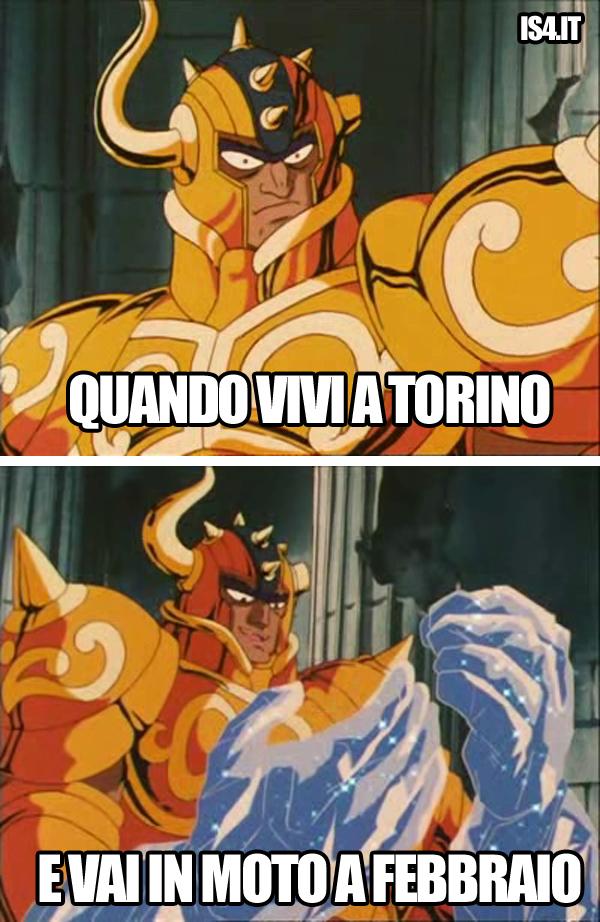 Cavalieri Dello Zodiaco meme ita - Quando vivi a Torino