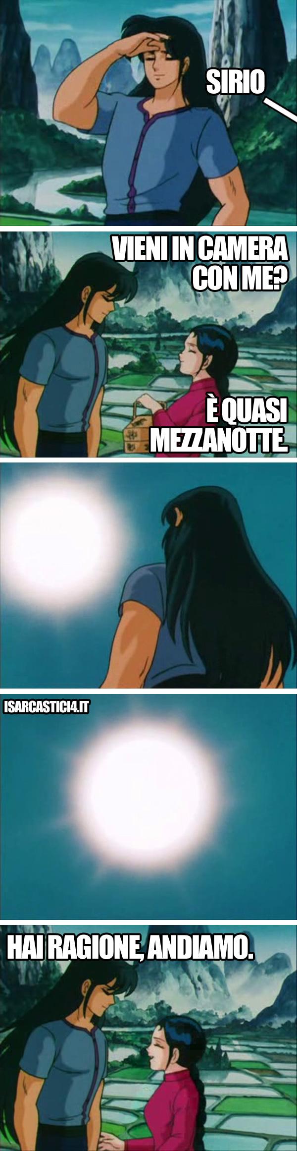 Cavalieri dello zodiaco meme ita - L'astuzia
