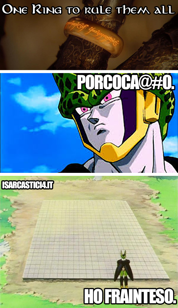 Dragon Ball meme ita - To rule them all