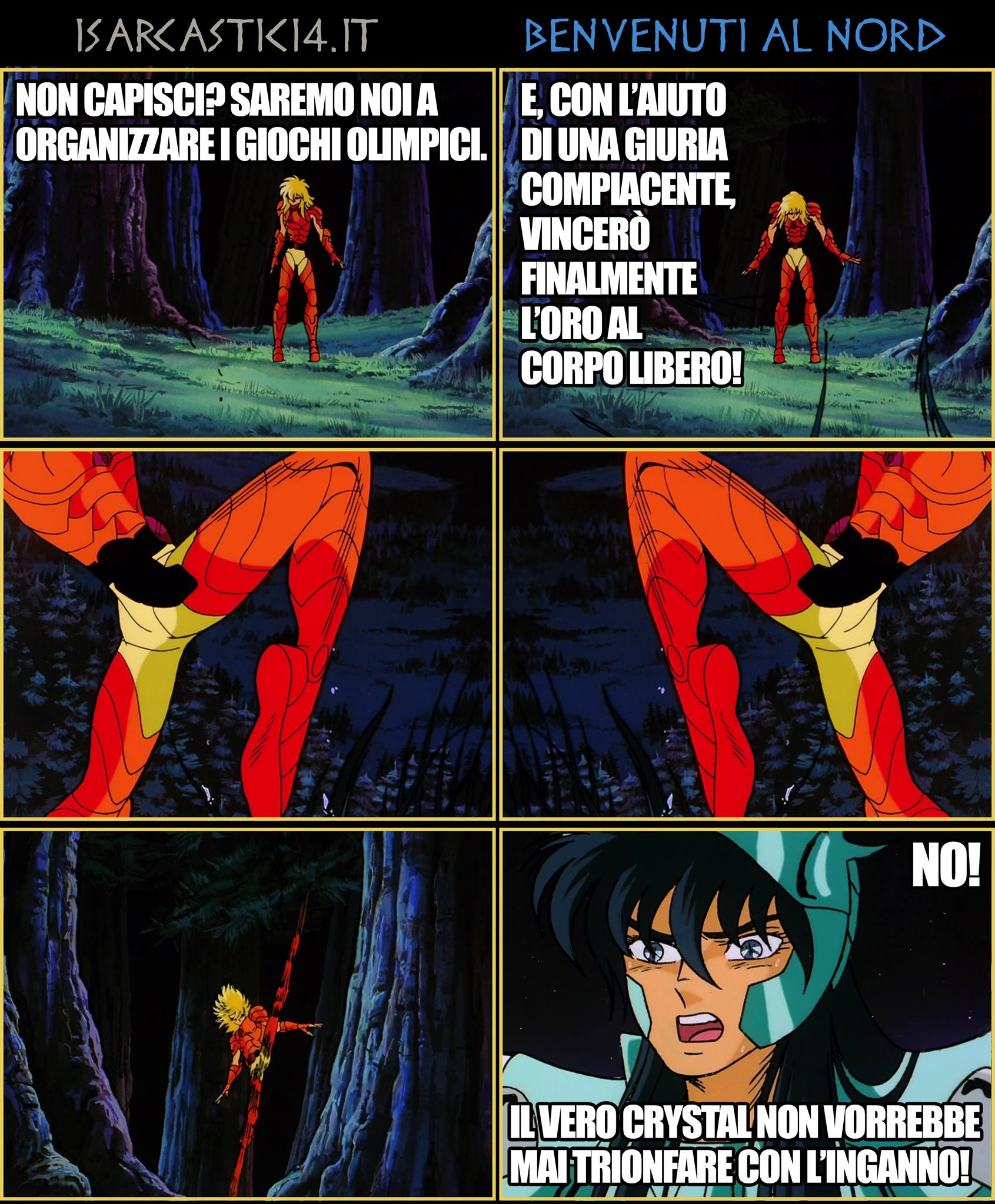 Benvenuti al Nord - La parodia a fumetti dei Cavalieri dello Zodiaco - L'ardente scontro degli dei