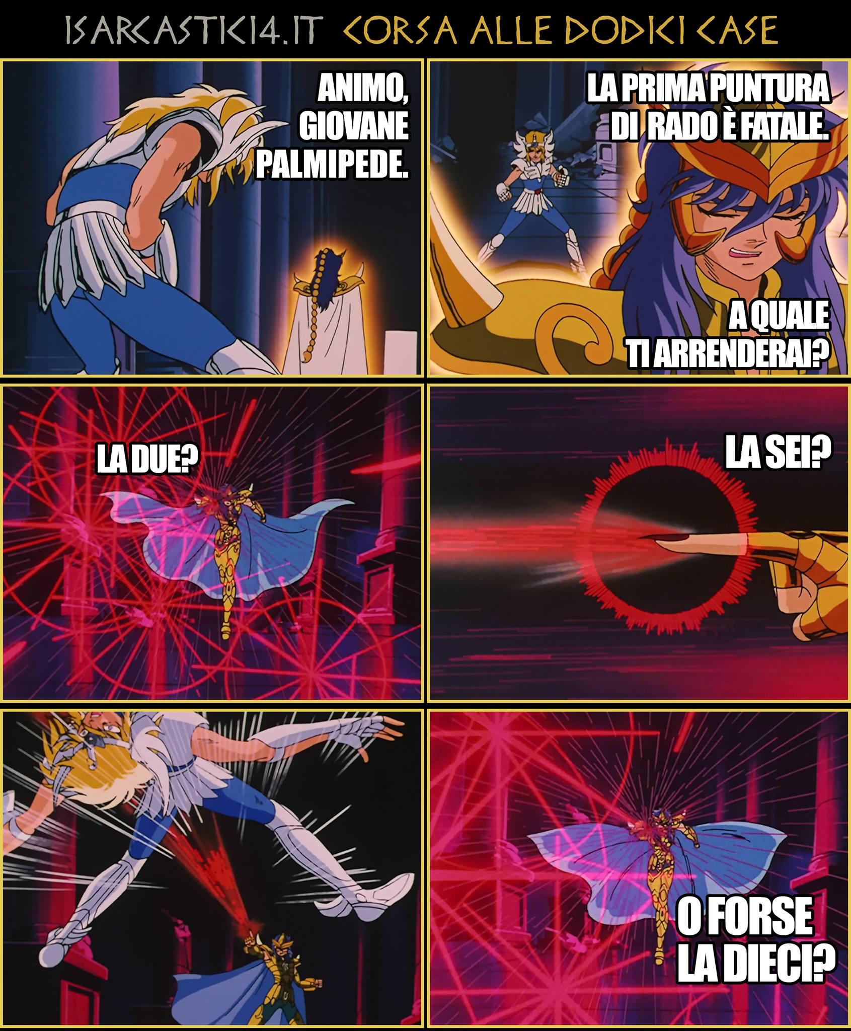 Corsa alle dodici case - La parodia a fumetti dei Cavalieri dello Zodiaco