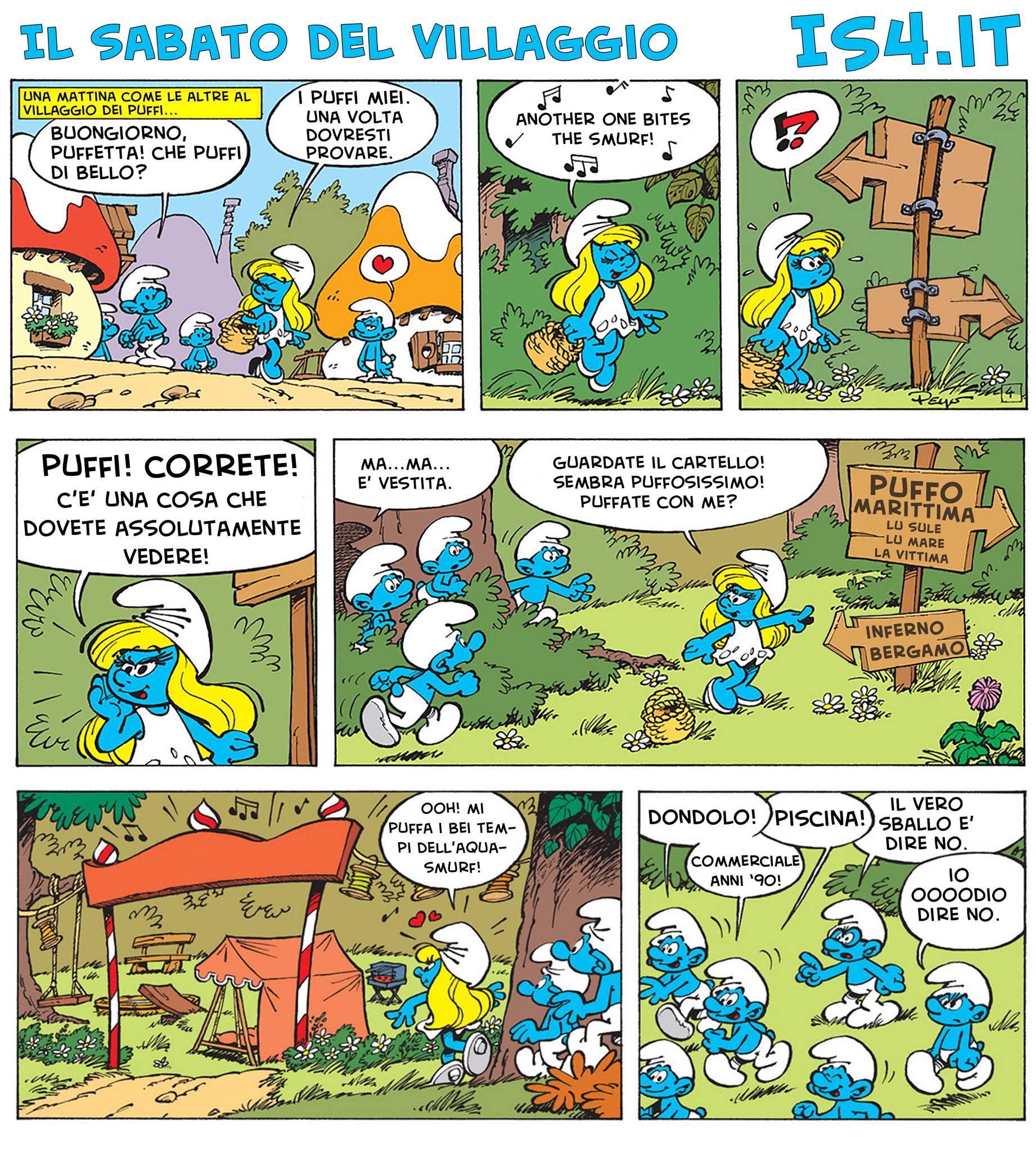 Peyo - I puffi / The Smurfs - parodia - pagina 01