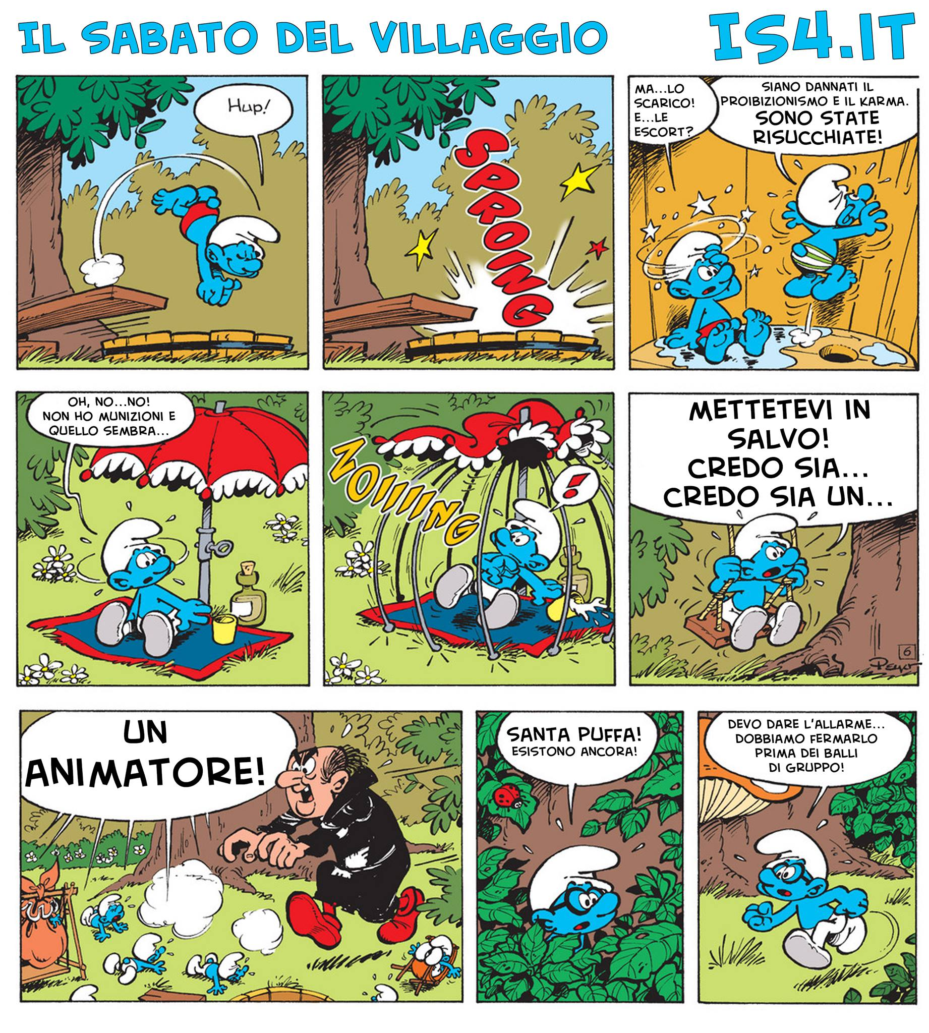Peyo - I puffi / The Smurfs - parodia - pagina 03