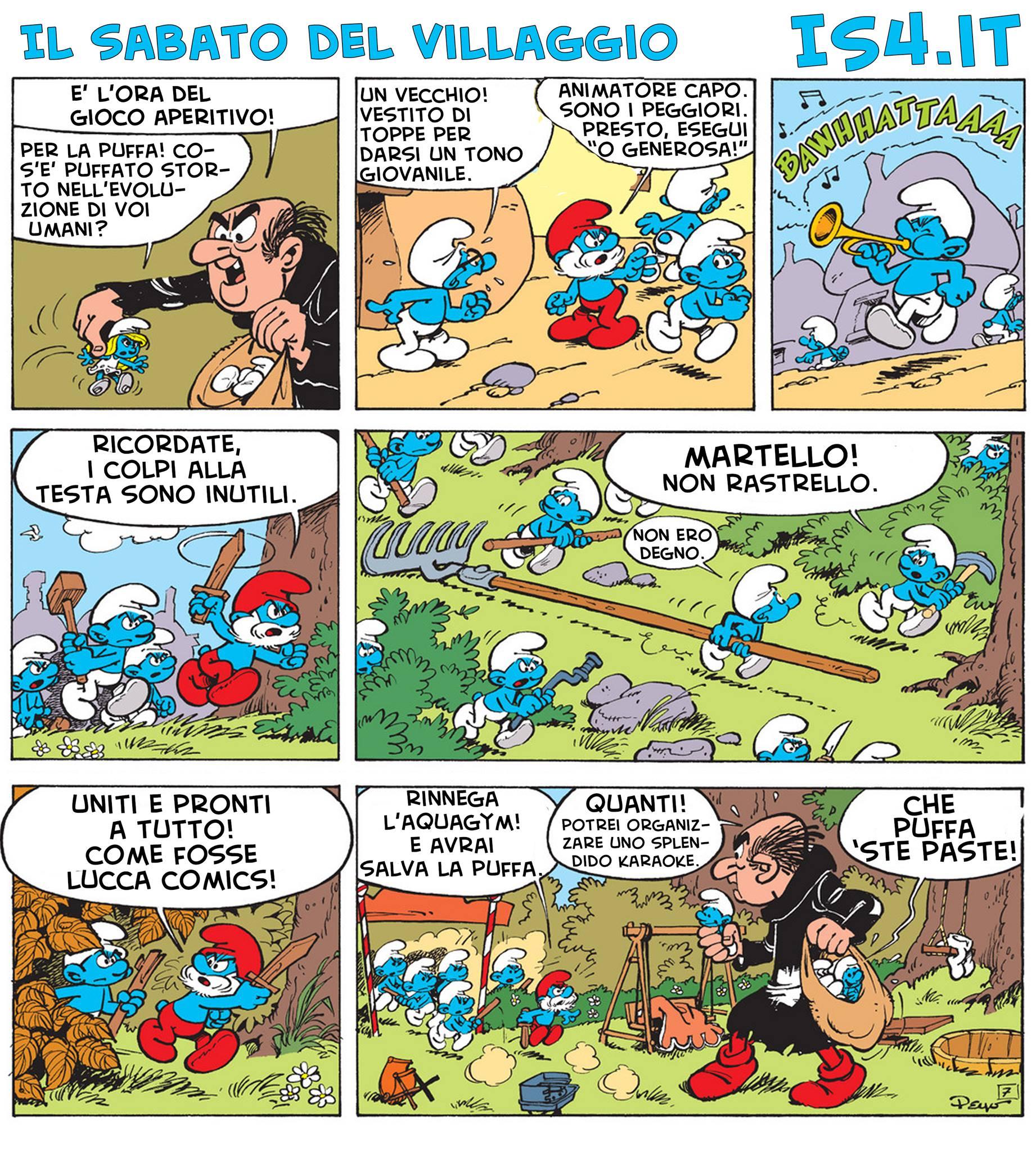 Peyo - I puffi / The Smurfs - parodia - pagina 04