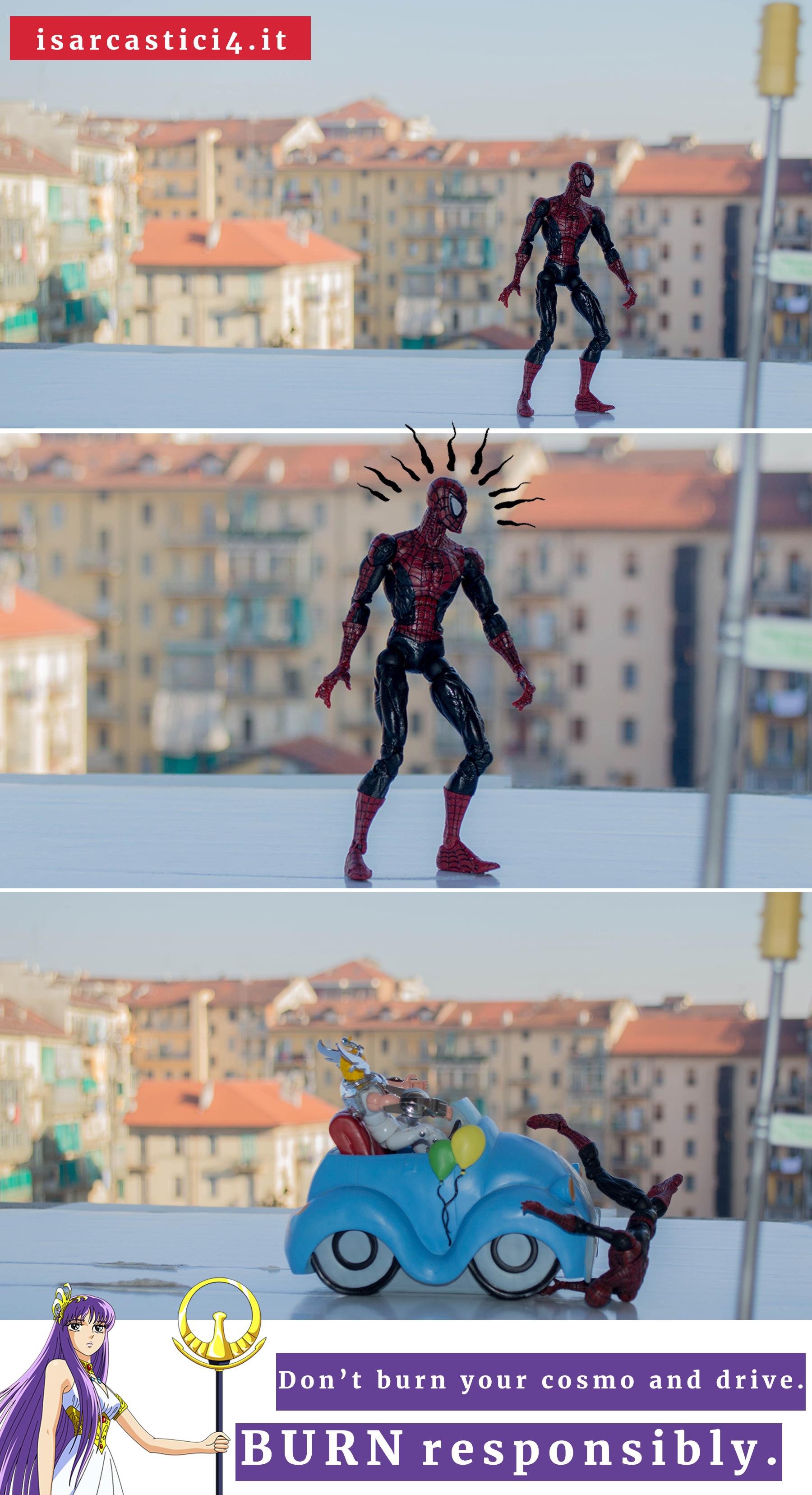 Teatro dell'assurdo 01 - Cavalieri dello Zodiaco & Spider-Man - Don't
