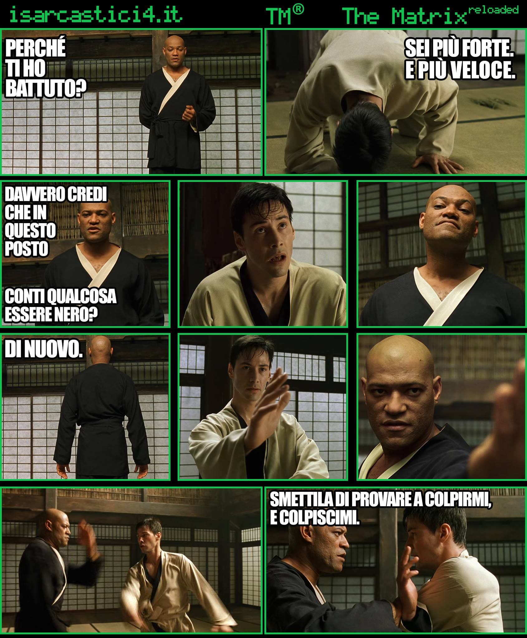 TMR - The Matrix Reloaded - La parodia a fumetti di Matrix