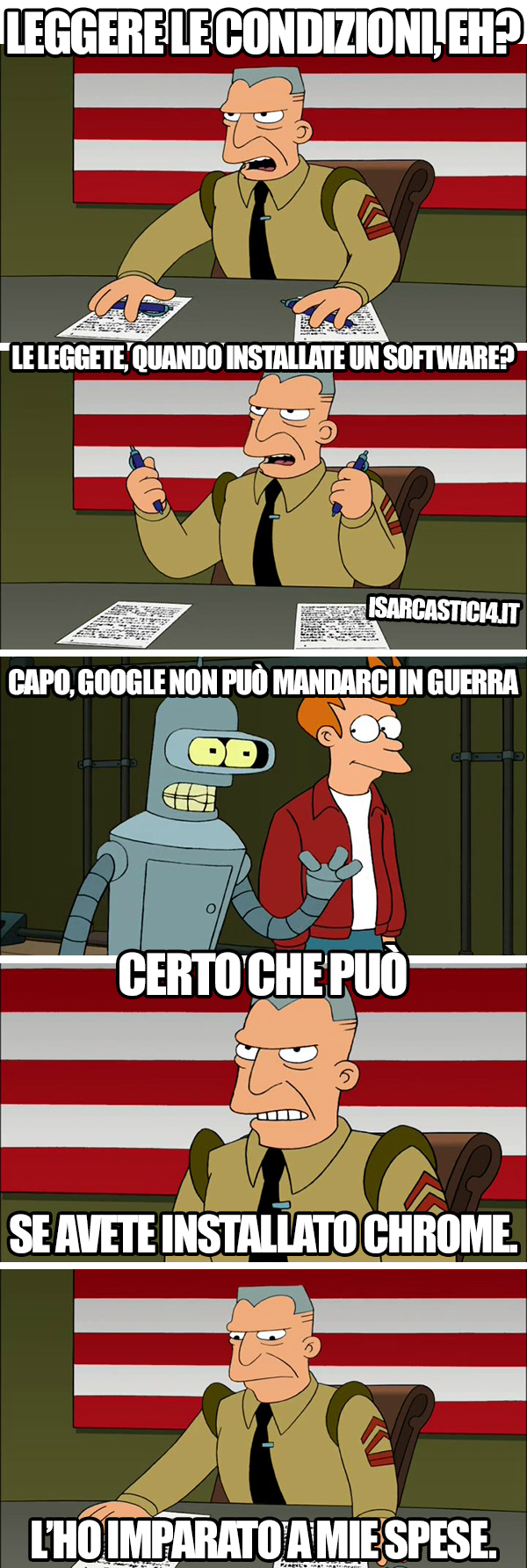 Futurama meme ita - Terms and conditions
