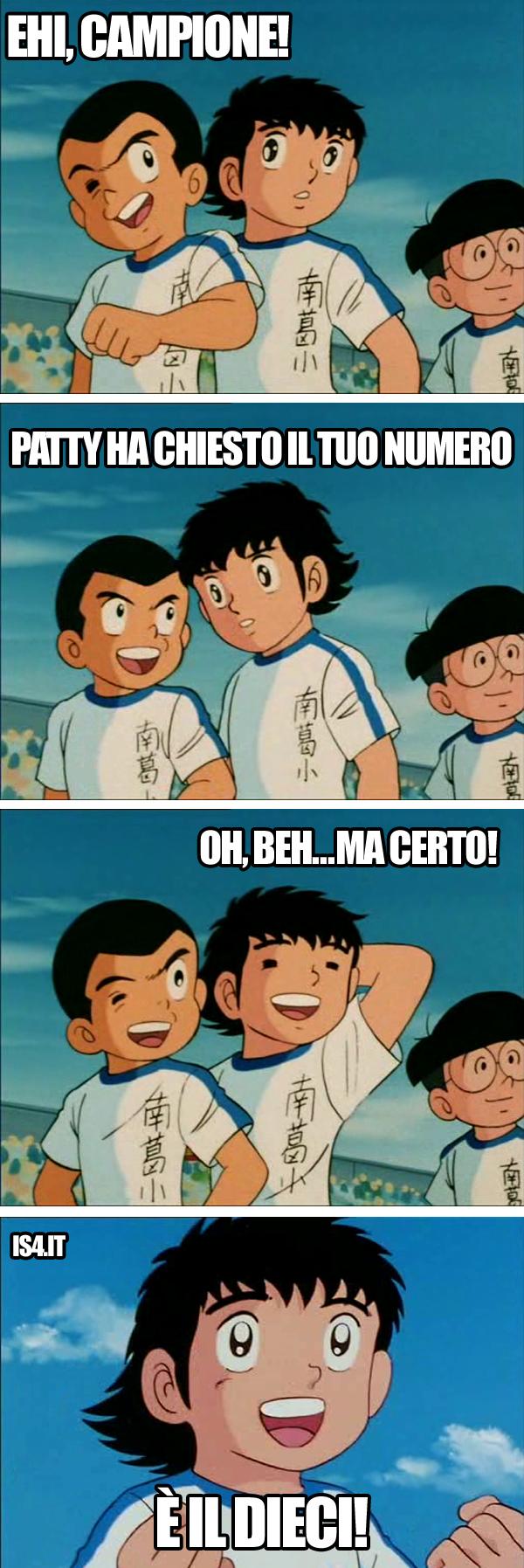 Holly & Benji, Capitan Tsubasa meme ita - Numero!