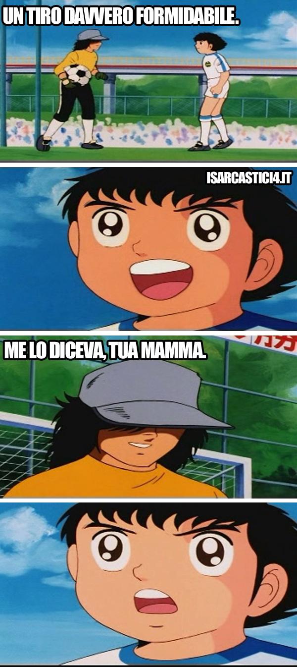 Holly & Benji, Capitan Tsubasa meme ita - Che tiro!