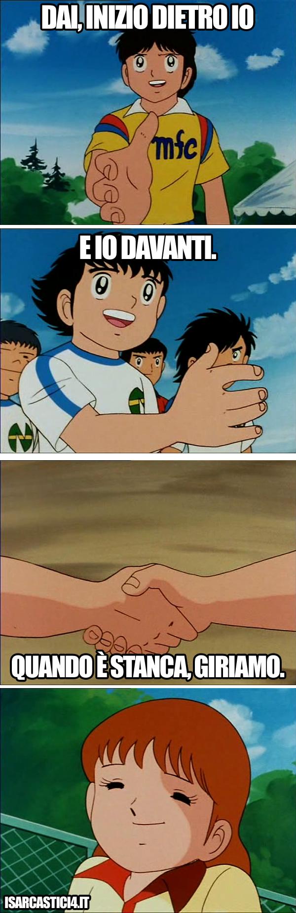 Holly & Benji, Capitan Tsubasa meme ita - Triplete