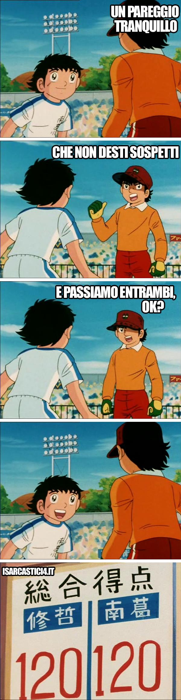 Holly e Benji - Capitan tsubasa meme ita - Calcioscommesse
