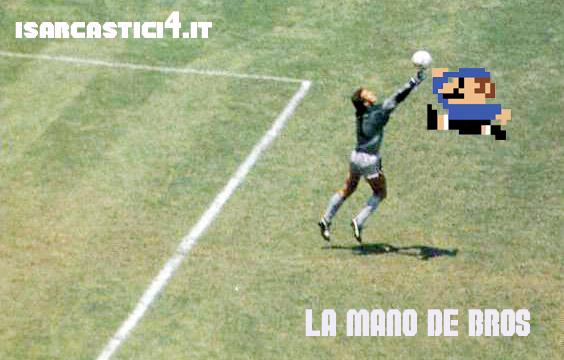 La mano de dios - Diego Armando Maradona & Super Mario Bros.