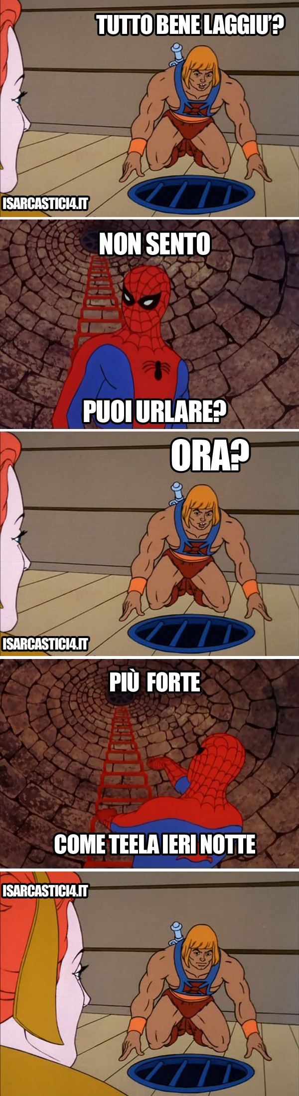 MOTU - Masters Of The Universe e 60s spiderman meme ita - Tira piu un pelo di