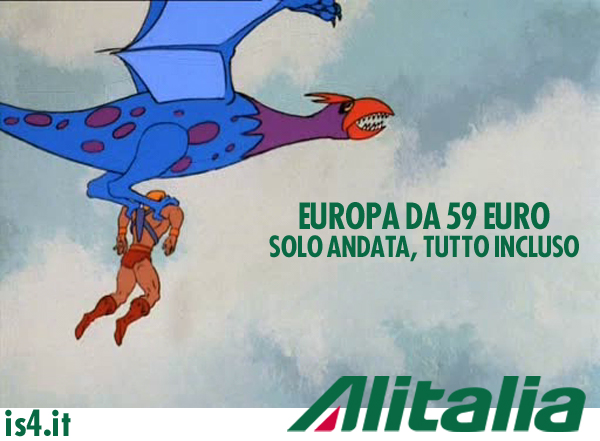 MOTU, Masters Of The Universe meme ita - Alitalia tutto incluso