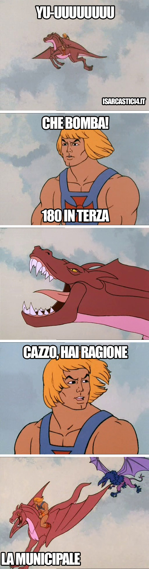 MOTU, Masters Of The Universe meme ita - Yu-uuuu