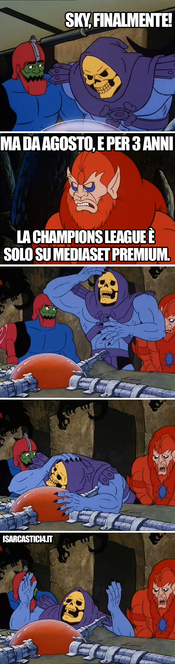MOTU, Masters Of The Universe meme ita - Non va!