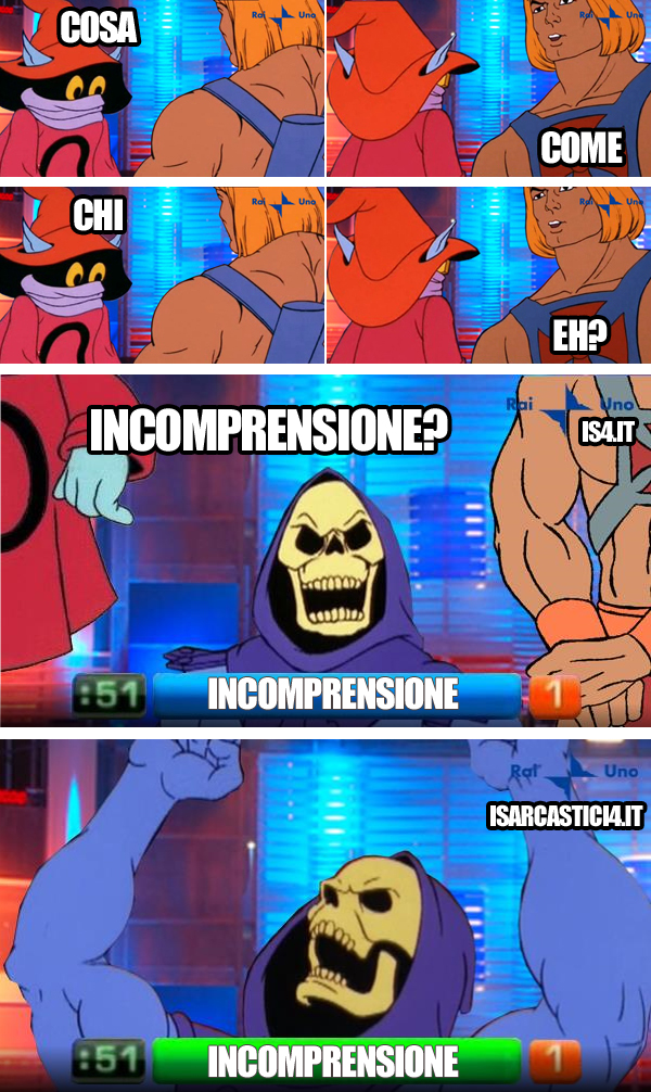 MOTU, Masters Of The Universe meme ita - Reazione a catena, l'intesa vincente