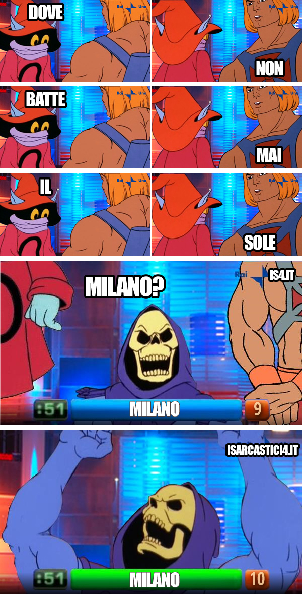 MOTU, Masters Of The Universe meme - Reazione a catena, Intesa vincente