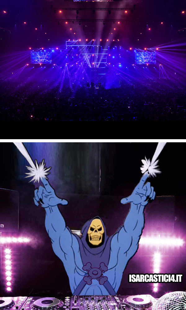 MOTU, Masters Of The Universe meme ita - Skeletor vs Guetta vs Swedish House Mafia