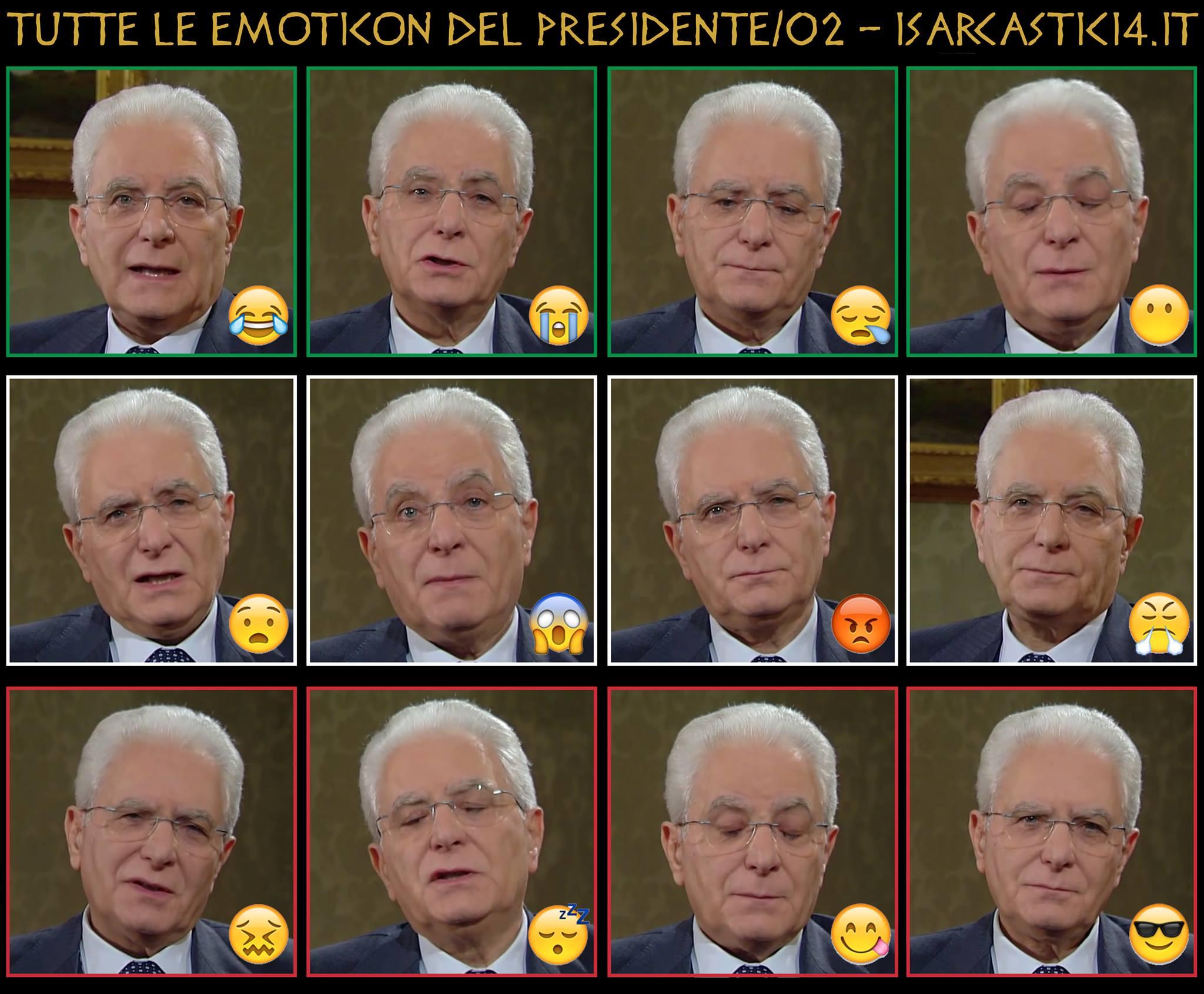 Tutte le emoticon del Presidente della Repubblica Mattarella - 01