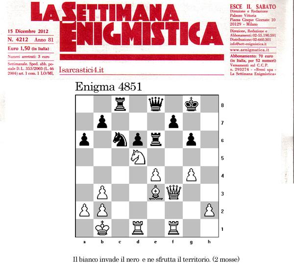 Settimana Enigmistica, gli scacchi - enigma 4581