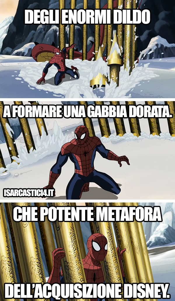 Ultimate Spider-Man animated series meme ita -   Gabbia