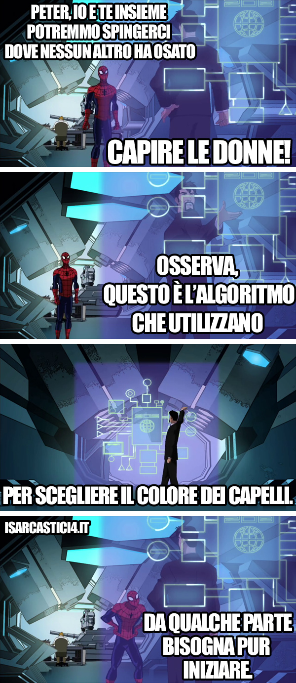 Ultimate Spider-Man animated series meme ita -