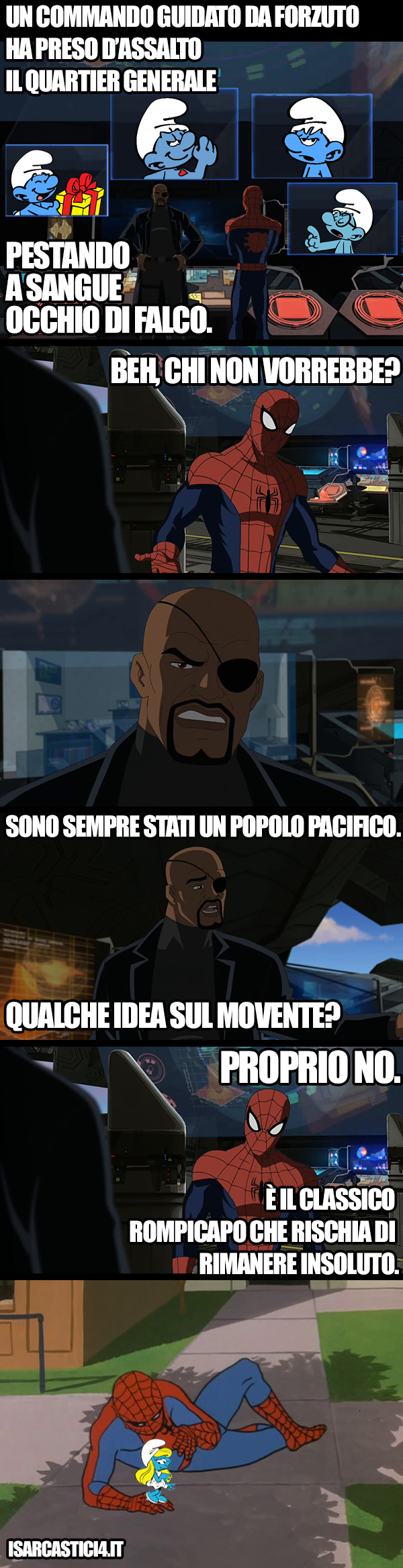 Ultimate Spider-Man animated series meme ita -  Rompicapo