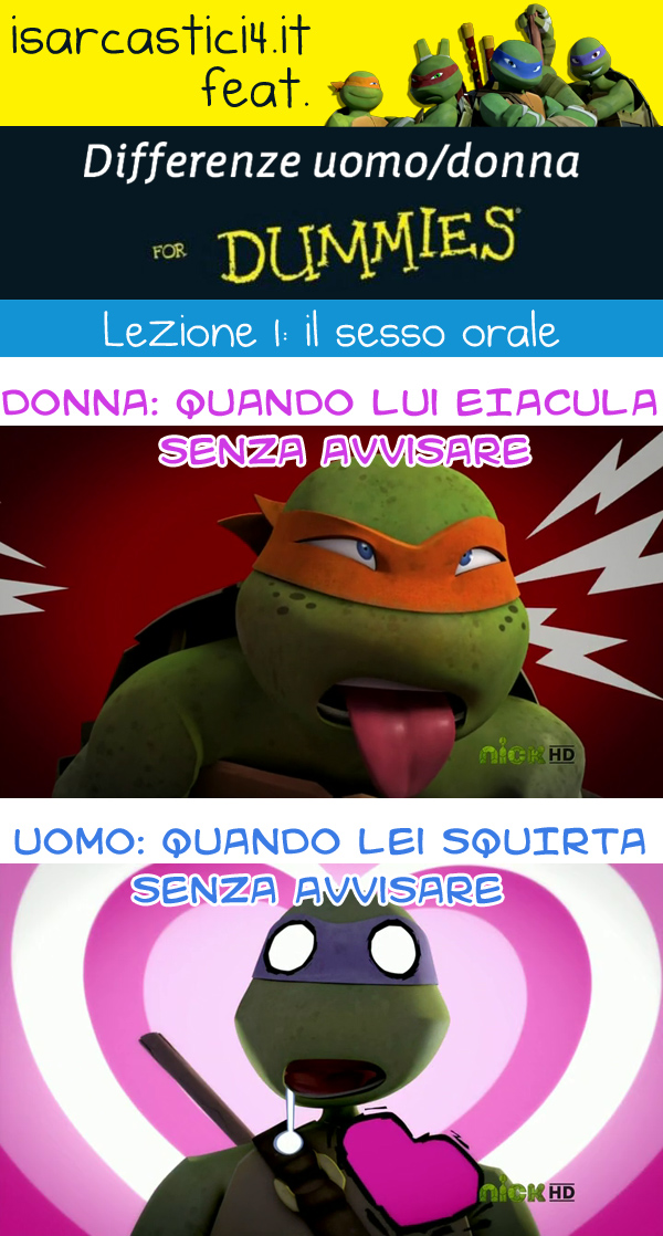 TMNT - Teenage Mutant Ninja Turtles / Tartarughe ninja meme ita - Differenze uomo/donna for dummies