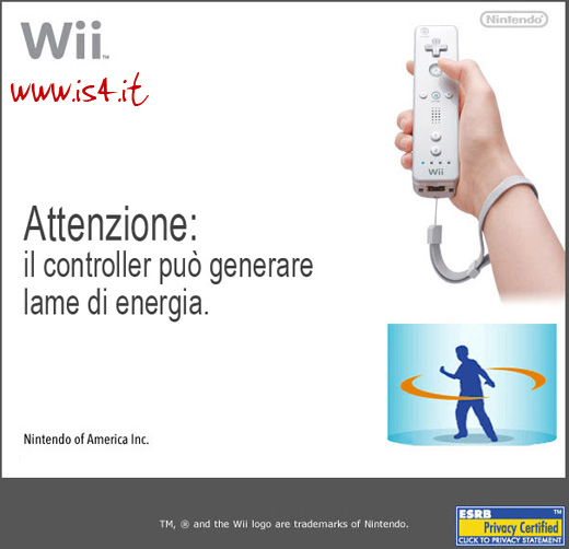 Wii safety screen