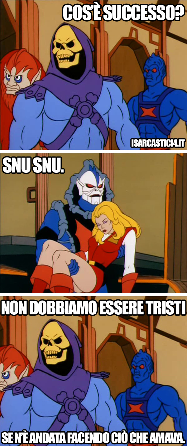 MOTU, Masters Of The Universe meme ita - Live your dream